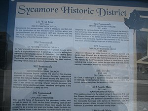 Chauncey Ellwood House - Image: Sycamore Il Poster 1