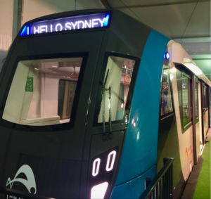 Sydney Metro - Nose of Sydney Metro train at 2017 Royal Easter Show