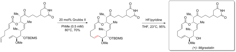 ring closing metathesis polymerization Olefin metathesis is a chemical reaction in which a molecule with a pair of carbon -carbon double bonds, known also as olefins or hydrocarbons, come together and exchange carbon atoms with one another, forming new value-added molecules in the ring opening metathesis polymerization ring closing metathesis.