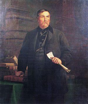 Ferenc Deák - Portrait by Bertalan Székely