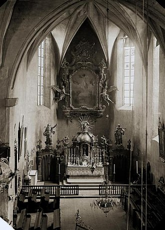 Josef Mocker - Image: Tábor church before 1897