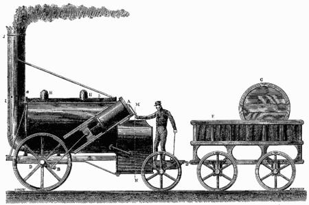 datant vieux malles de vapeur