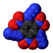 Space-filling model of the TATNB molecule