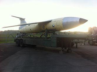 MGM-1 Matador - A Matador missile at Gatow, Germany.