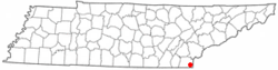 Location of Ducktown, Tennessee
