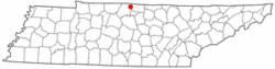 Location of Westmoreland, Tennessee