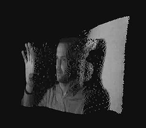 Time-of-flight camera - Range image of a human face captured with a time-of-flight camera