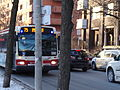 TTC bus proceeding east on The Esplanade, 2015 01 13 (16254982596).jpg