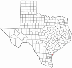 Location of Port Aransas, Texas