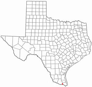 Santa Maria, Texas - Image: TX Map doton Santa Maria