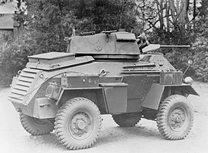 Humber Armoured Car - Mk III with visible turret overhang
