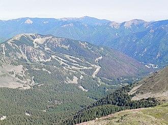Taos Ski Valley, New Mexico - Taos Ski Valley from Wheeler Peak
