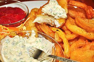 Tartar sauce - Tartar sauce is often served with fried seafood.