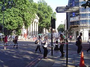 Tavistock Square - A view looking towards Tavistock Square
