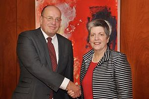 Fred Teeven - Fred Teeven and then United States Secretary of Homeland Security Janet Napolitano in 2011.