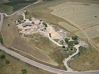 Tel Hazor - Aerial photo of Tel Hazor