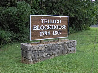 Tellico Blockhouse - Entrance sign to the Tellico Blockhouse State Historic Area