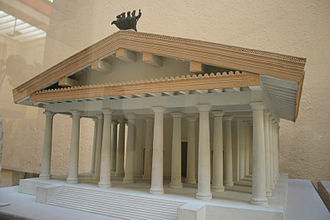 Temple of Jupiter Optimus Maximus - Speculative model of the first Temple of Jupiter Optimus Maximus, 509 BC