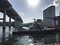 Tempozan Bridge and Osaka City Water Fire Station.jpg