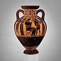 Terracotta neck-amphora of Panathenaic shape (jar) MET DP161828.jpg