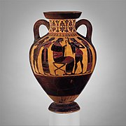 Terracotta neck-amphora of Panathenaic shape (jar) MET DP161828.jpg