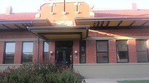 Abilene, Texas - The restored Texas & Pacific Railway depot in Abilene serves as the tourist information center.