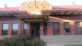 Abilene, Texas - The restored Texas & Pacific Railway depot in Abilene serves as the tourist information center.