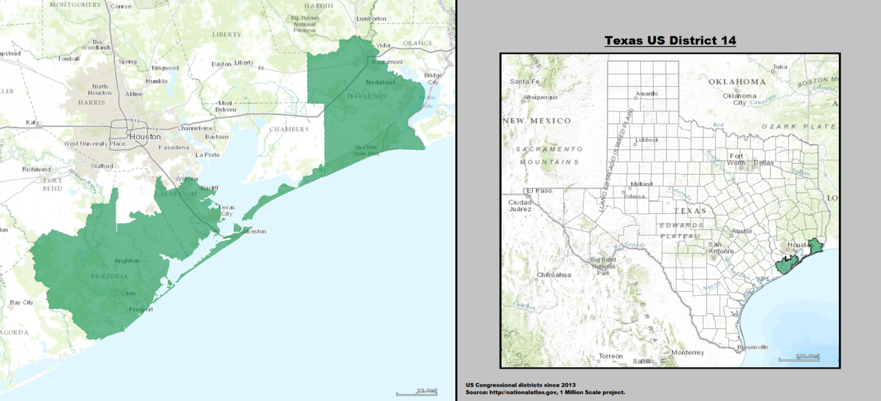 the weaker party: Texas' 14th and 22nd congressional districts