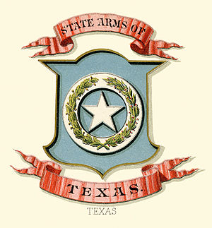 Seal of Texas - Image: Texas state coat of arms (illustrated, 1876)