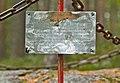Text plate on the boundary marker of Treaty of Teusina in Virranniemi, Tuusniemi, Finland, 2018 September.jpg