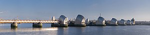 Thames Barrier - Image: Thames Barrier, London, England Feb 2010