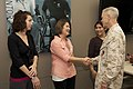 The 35th Commandant and first lady of the Marine Corps, Gen. James F. Amos, right, visits with families of the Wounded Warrior Battalion at the Hope and Care Center at Marine Corps Air Station Camp Pendleton 130417-M-LU710-151.jpg