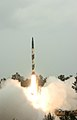 The Agni 1 Missile successfully launched from Island launch complex of Dhamra, Orissa on March 23, 2008.jpg