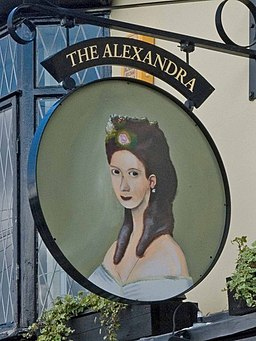 The Alexandra Pub Sign - geograph.org.uk - 884366