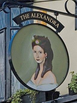The Alexandra Pub Sign - geograph.org.uk - 884366