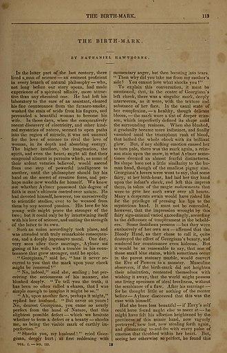"The Birth-Mark - ""The Birth-Mark"", The Pioneer, March 1843"