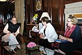 The Chief Executive Officer (CEO) of the World Bank to India, Ms. Kristalina Georgieva calls on the Union Minister for Finance and Corporate Affairs, Shri Arun Jaitley, in New Delhi on March 01, 2017.jpg
