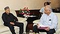 The Chief Minister of Himachal Pradesh, Shri Virbhadra Singh calling on the Union Minister for Civil Aviation, Shri Ashok Gajapathi Raju Pusapati, in New Delhi on August 30, 2016.jpg