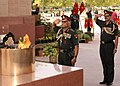 The Chief of Army Staff, Gen. V.K. Singh pays homage at Amar Jawan Jyoti, in New Delhi on May 31, 2012.jpg