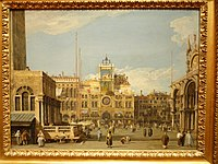 The Clock Tower in the Piazza San Marco, Canaletto, 1728-1730 - Nelson-Atkins Museum of Art - DSC08855.JPG