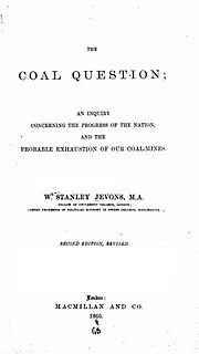 <i>The Coal Question</i> 1865 economics book by William Stanley Jevons