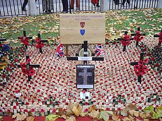 Field of Remembrance - Image: The Corps of the Royal Engineers memorial in the Field of Remembrance Westminster Abbey geograph.org.uk 1575007