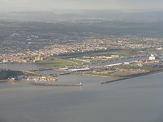 Barry Docks - View from the south (2010)