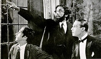 The Four Horsemen of the Apocalypse (film) - The scene where the man upstairs (Nigel de Brulier) shows Julio (Valentino) and his manservant (Bowditch M. Turner) the Four Horsemen of the Apocalypse.
