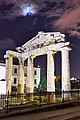 The Gate of Athena Archegetis in the Roman Agora of Athens. In the distance, the National Observatory of Athens.jpg