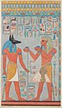 The King with Anubis, Tomb of Haremhab MET DP234736.jpg