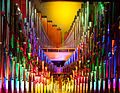 The Mighty Wurlitzer theatre organ pipes with color light 2, Nethercutt Collection.jpg