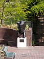 The Minotaur by Michael Ayrton viewed from Gilbert Bridge during Wikimania 2014.jpg
