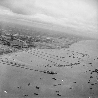 Mulberry harbour type of portable temporary harbour