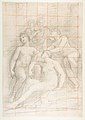 The Muses Euterpe, Polyhymnia, Calliope, Clio, and Terpsichore (recto); Sketch of a Sleeping Child (verso) MET DP812334.jpg